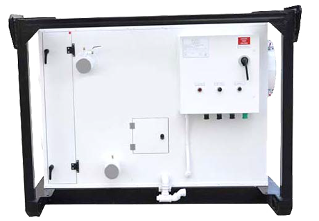Chilled Water Connections & Control Panel