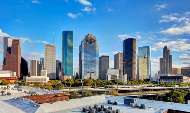 Houston rooftop view
