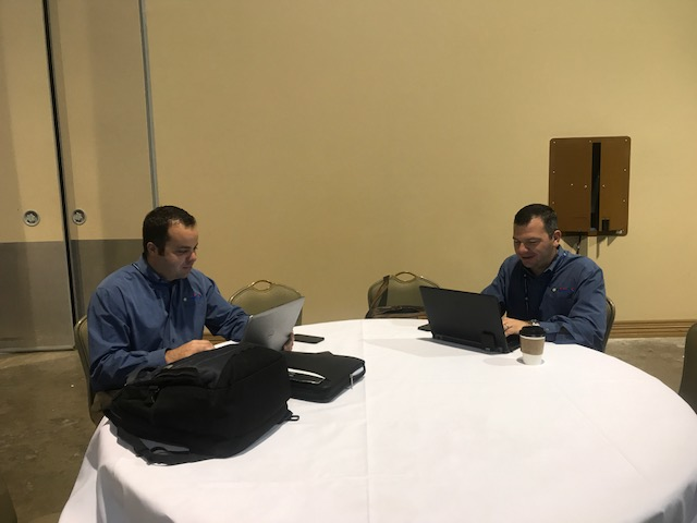 Andrew and Carl pre-2018 Trade Show