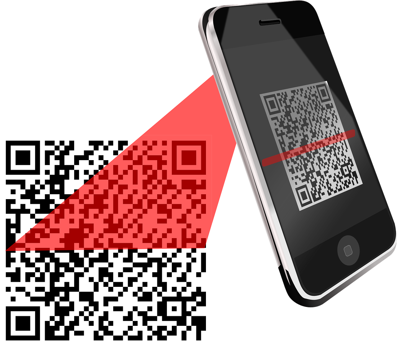 QR Code being scanned with a phone