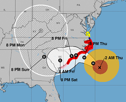 Hurricane Florence - updated Saturday 2018-09-15 5am