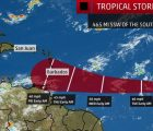 Sunday - Tropical Storm Kirk approaches