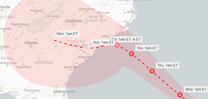 Hurricane Florence - updated Wednesday 2018-09-12 9am ET