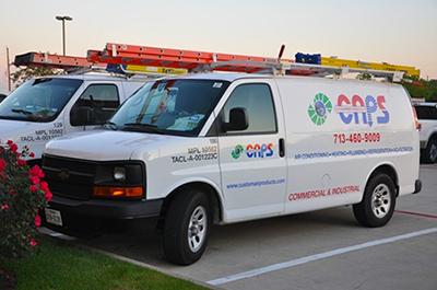 Custom Air Products Service Van