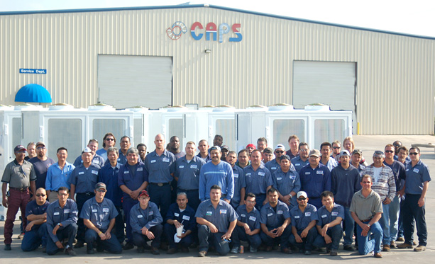 Employees at Custom Air Products