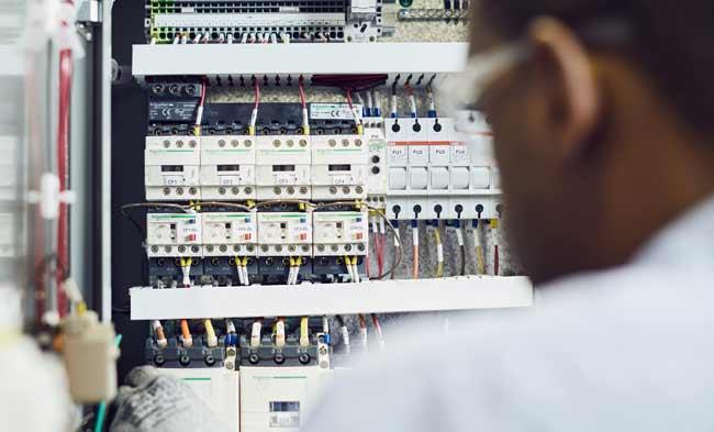 HVAC electrical control panel